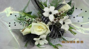 White roses and stephanotis