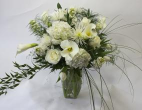All White Calla Lily Arrangement