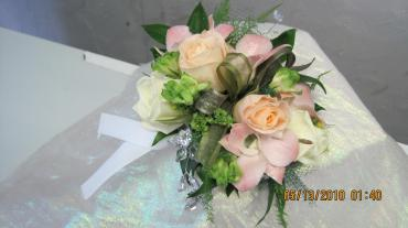 Blush Rose and Orchid Corsage