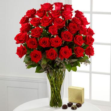 Long Stem Red Rose Bouquet
